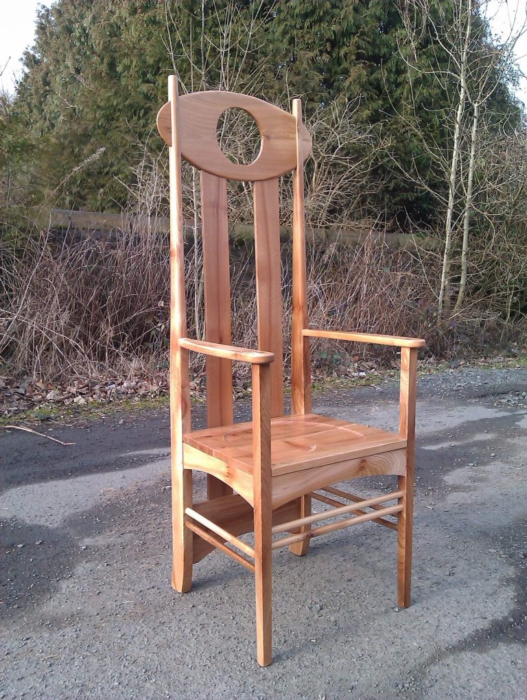Bespoke Argyle Chair made in Scottish Elm