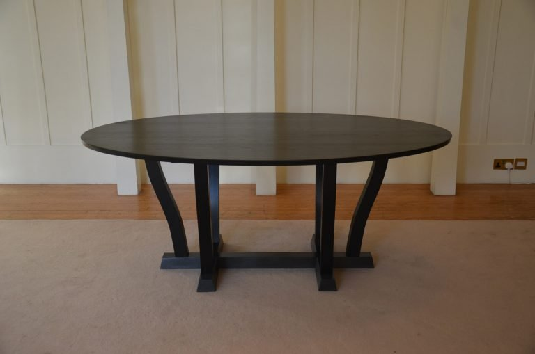 Waverly Dining Table in black lacquer finish