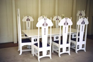 White Art Lovers Dining Suite